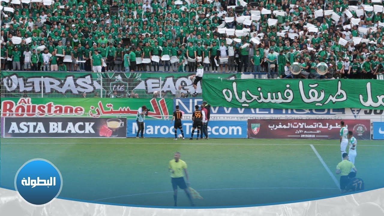 لاعبا اتحاد طنجة الراقي والوادي يهديان ورودا لجمهور الرجاء + فيديو