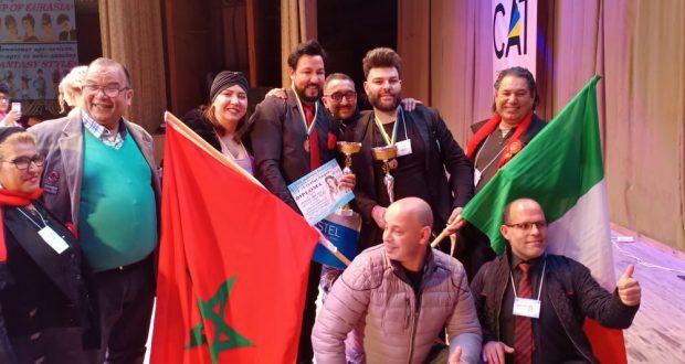 المغرب يحتل المرتبة الأولى في المهرجان الدولي لفن الحلاقة بكييف أوكرانيا