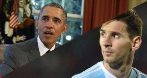 أوباما يشرح سبب فشل ميسي مع منتخب الأرجنتين