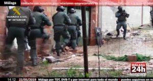 عملية ضد تهريب الحشيش في مالقة
