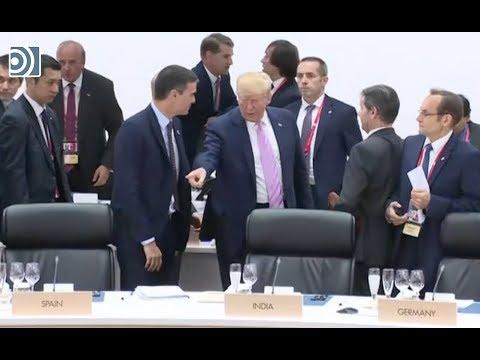 هل أمر ترامب رئيس حكومة إسبانيا بالجلوس..؟ ! + فيديو