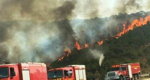 إخماد حريق طنجة