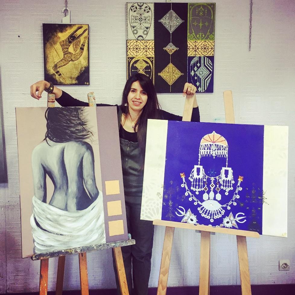 حنان العلوي: فنانة مغربية في باريس حولت الشموع والقناني إلى تحف.. وأبدعت في مجال الرسم بالحناء