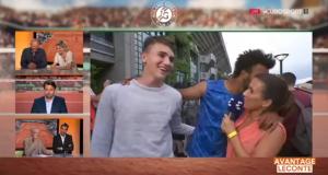 """إدارة """"رولان غاروس"""" تمنع لاعباً من دخول ملاعبها بعدما قبّل عنوة مذيعة فرنسية (+ فيديو)"""