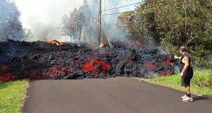 بركان رهيب يرعب سكان جزيرة هاواي